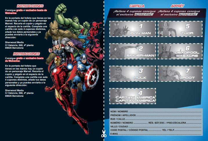 Díptico promoción Bustos Marvel